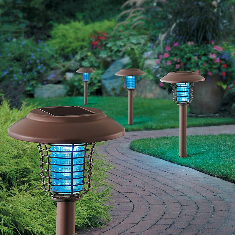 Solar Bug Zapper Landscape Lights-Set of 2 - Stainless Steel