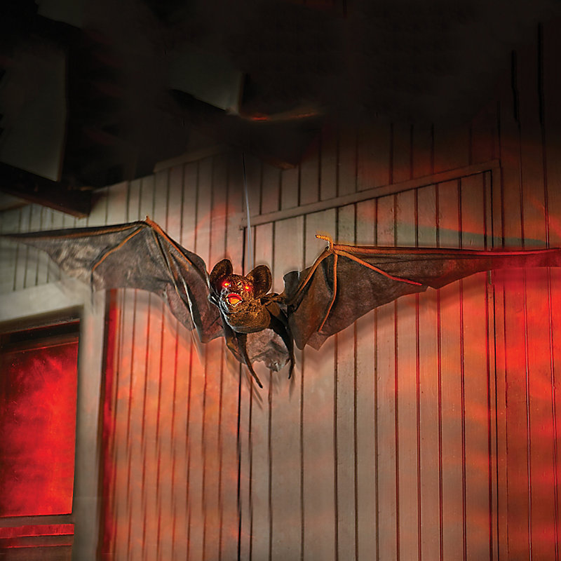 Halloween decor improvements catalog for Animated flying bat decoration