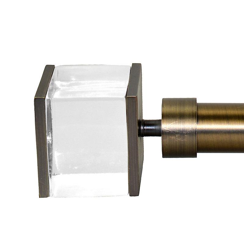 Sleek Curtain Rod with Quadra Finial-32