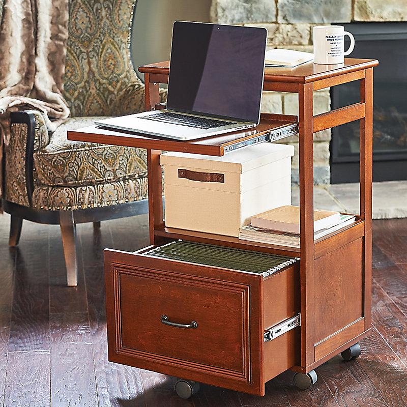 Hampshire Mobile Desk - Walnut