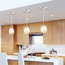 Instant Pendant Light with Oyster Glass Shade