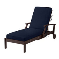 Sunbrella outdoor cushions navy improvements catalog for Box edge chaise cushion