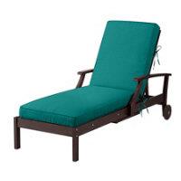 Sunbrella outdoor cushions teal improvements catalog for Box edge chaise cushion