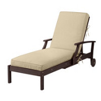 Sunbrella outdoor cushions vellum improvements catalog for Box edge chaise cushion
