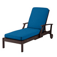 Outdoor cushions nassau blue improvements catalog for Box edge chaise cushion