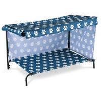 indooroutdoor dog bed canopy cover and shade frame large - Dog Bed Frame