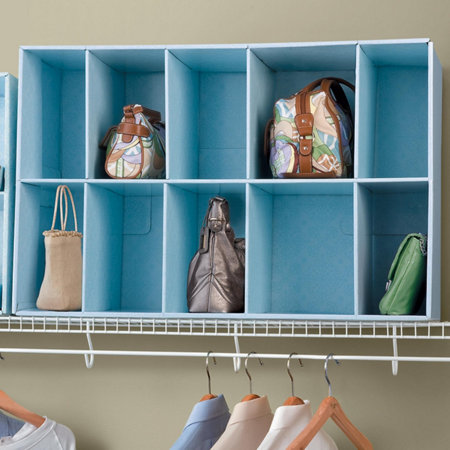 Park a purse closet purse organizer - Closet organizer for purses ...