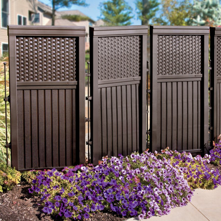 Woven resin privacy screen for Outdoor privacy fence screen