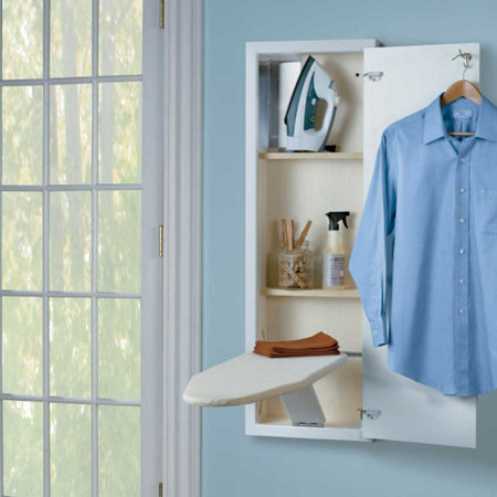 how to set up ironing board