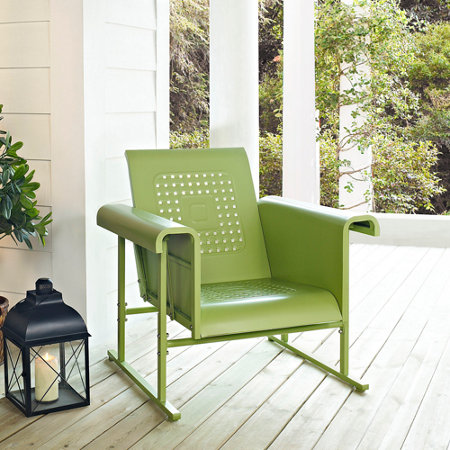 Veranda Metal Retro Single Chair Glider - Griffith Retro Metal Patio Furniture - Improvements Catalog