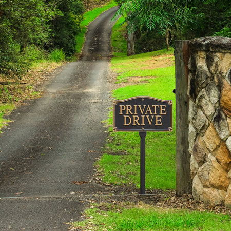 Private drive wall lawn sign improvements catalog for Dream home xd 10mm calico oak