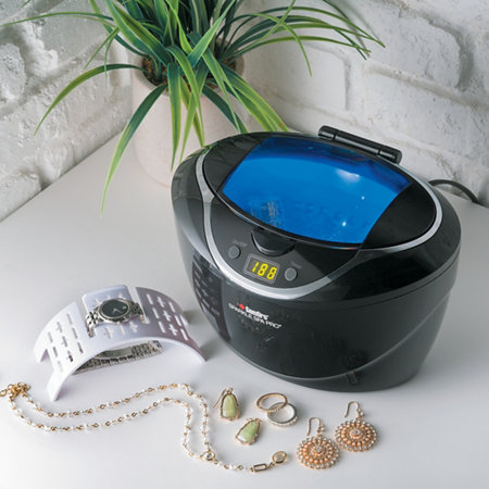Ultrasonic pro jewelry cleaner with solution for Sparkle spa pro jewelry cleaner reviews