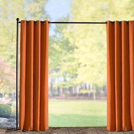 home sunbrella outdoor curtain panel tuscan orange