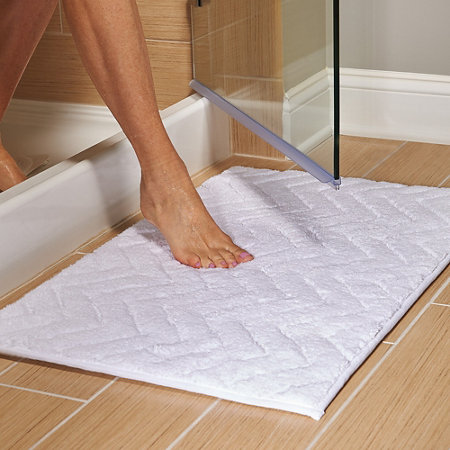 Chevron Reversible Drip Dry Bath Mat