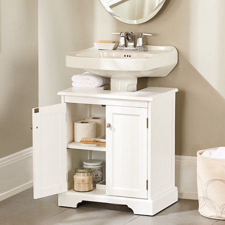 Under Sink Storage For Pedestal Sink : Bathroom Pedestal Sink Storage Cabinet Lexerati