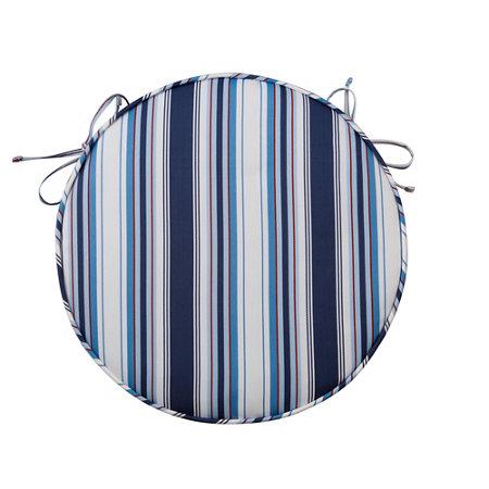 round patio seat cushion 16 nautical stripe