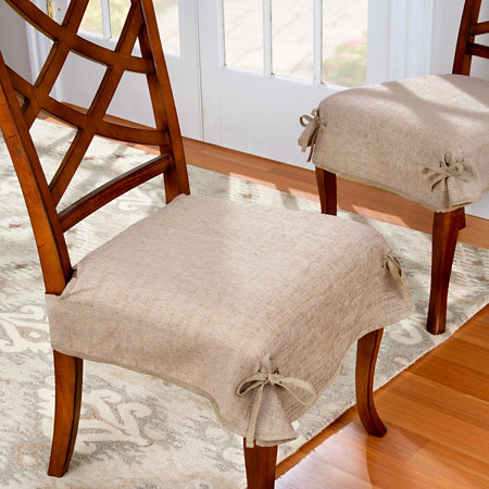 Chenille Dining Chair Seat Covers Set Of 2 Improvements Catalog
