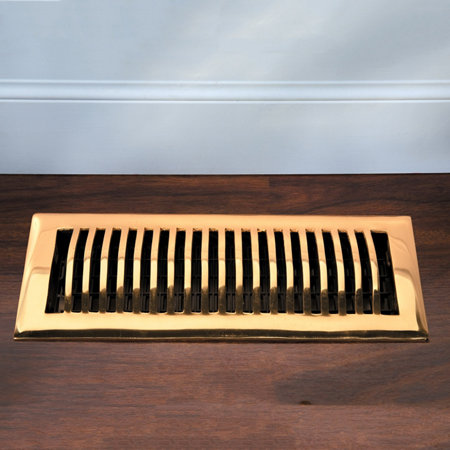 Contemporary Solid Brass Decorative Floor Register