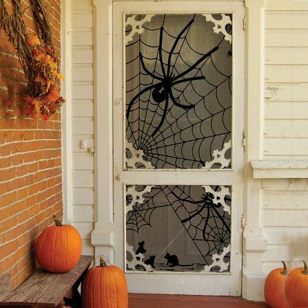 scenic lace panel halloween window decoration - Halloween Window Decoration