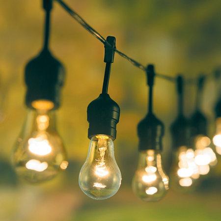 clear filament 30 bulb edison string lights. Black Bedroom Furniture Sets. Home Design Ideas