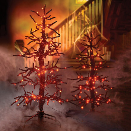 5 39 lighted animated spooky tree halloween decor for Animated halloween decoration