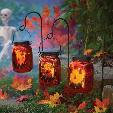 jack o lantern pathway lighting halloween decoration set of 3 - Halloween Pathway Lights