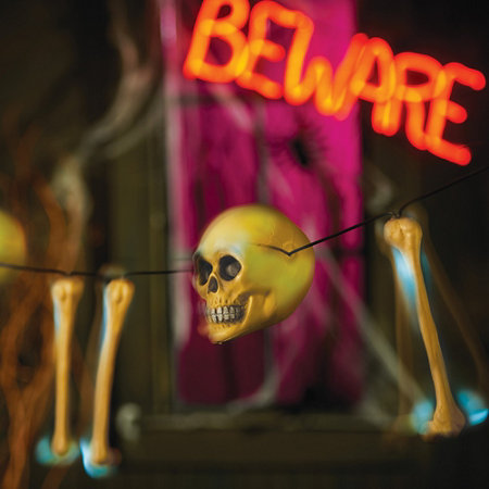 lighted rattling skeleton bones halloween decoration