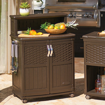Entertaining is a breeze with this Backyard Oasis Storage and Entertaining Station by Suncast. With Gal. of storage, this unit has ample space for storing large furniture cushions, grilling utensils and other entertaining rythloarubbpo.ml: $