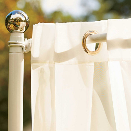 Outdoor Curtain Rod With Post Set Improvements Catalog