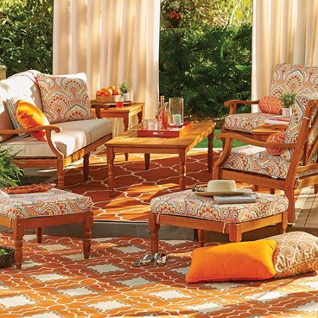 Lexington Deluxe Eucalyptus Outdoor Furniture Collection