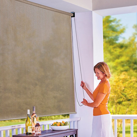 Roll up solar shade window shades for Roll up screens for windows