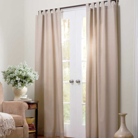 Thermalogic Insulated Tab Top Thermal Curtains Patio Door Two 80 X 84 Panels