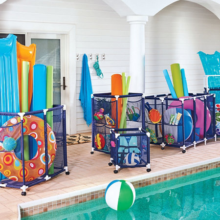 Rolling storage bins improvements catalog for Swimming pool storage ideas