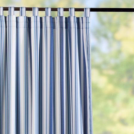 TabTop SemiOpaque Outdoor Curtain PanelsNautical Blue Stripe Improvements Catalog