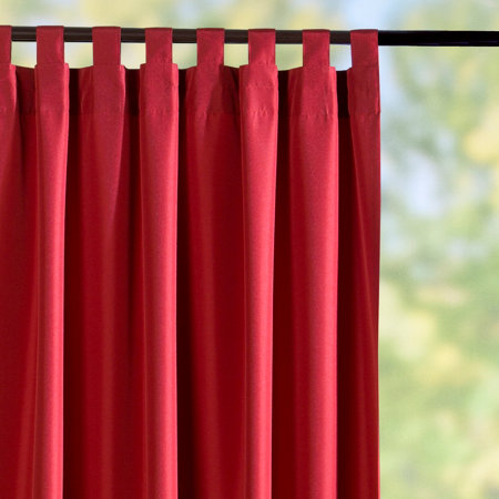 tab top semi opaque outdoor curtain panels red brick