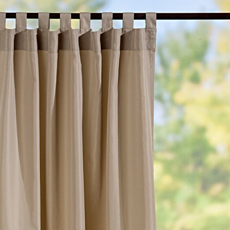 tab top semi opaque outdoor curtain panels taupe