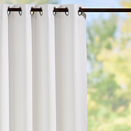 grommet top semi opaque outdoor curtain panels white