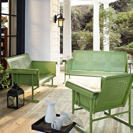 veranda retro metal patio furniture improvements catalog. Black Bedroom Furniture Sets. Home Design Ideas