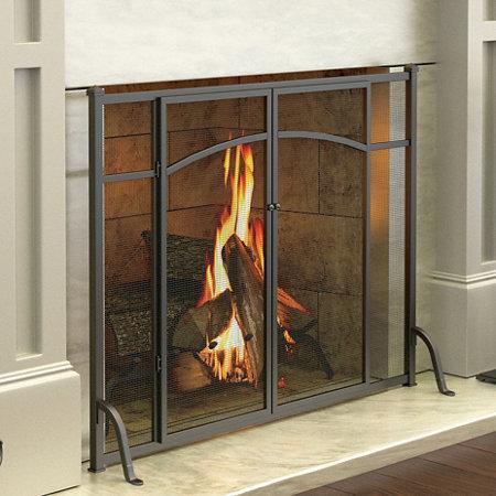 Hyde Park Flat Panel Fireplace Screen With Doors Improvements Catalog