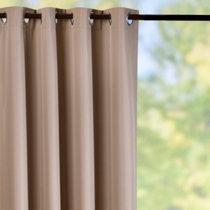 grommettop semiopaque outdoor curtain panelskhaki
