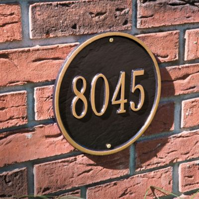 Round Address Plaque 9-inch Diameter