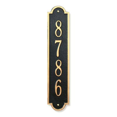 Richmond Vertical House Number Plaque