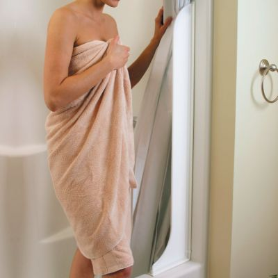 Tall Shower Curtain Splash Guard-Set of 2