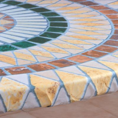 Mosaic-Look Custom Table Cover