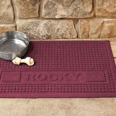 "Water Guard Personalized Dog Food Mat-18""x28"""