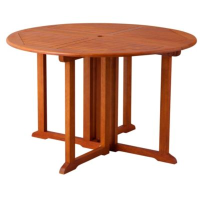 "48"" Round Eucalyptus Drop Down Table"