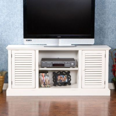 Antebellum White TV Console