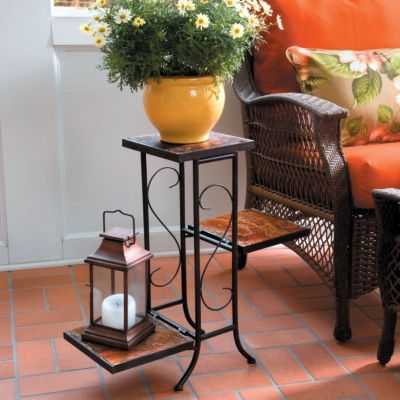 Meridian Slate 3-Tier Plant Stand