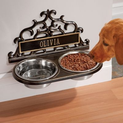 Personalized Wall-Mount Pet Feeder