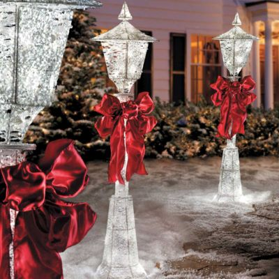 "48"" Lighted Snow Lamp Post"